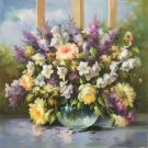 """Simple modern Hand painted oil painting on canvas""""Flowers""""80x80CM(31.5""""x31.5"""")Unframed-29"""