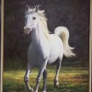 """Hand painted oil painting on canvas""""Akhal-teke horses""""90x120CM(35.4""""x47.2"""")Unframed-16"""