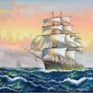 "Simple modern Hand painted oil painting on canvas""Adventure sailboat""60x90CM(23.6""x35.4"")Unframed-20"