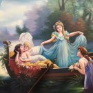"""Hand painted oil painting on canvas""""Beautiful fairy tale""""90x120CM(35.4""""x47.2"""")Unframed-16"""