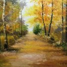 "Nordic style Hand painted oil painting on canvas""forest""60x90CM(23.6""x35.4"")Unframed-29"