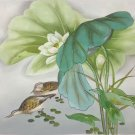 "Chinese style Hand painted oil painting on canvas""lotus""50x60CM(19.7""x23.6"") Unframed-18"