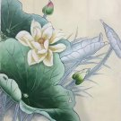 """Chinese style Hand painted oil painting on canvas""""lotus""""50x60CM(19.7""""x23.6"""")Unframed-21"""