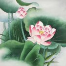 """Chinese style Hand painted oil painting on canvas""""lotus""""50x60CM(19.7""""x23.6"""")Unframed-24"""