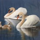 """Simple modern Hand painted oil painting on canvas""""swan""""75x100CM(29.5x39.4inch)Unframed-11"""