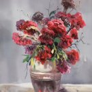 """Simple modern Hand painted oil painting on canvas""""Potted flowers""""60x90CM(23.6""""x35.4"""")Unframed-35"""
