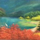 """American style Hand painted oil painting on canvas""""Creek""""50x100CM(19.7""""x39.4inch)Unframed-82"""