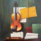 "Simple modern Hand painted oil painting on canvas""violin""60x90CM(23.6""x35.4"")Unframed-06"