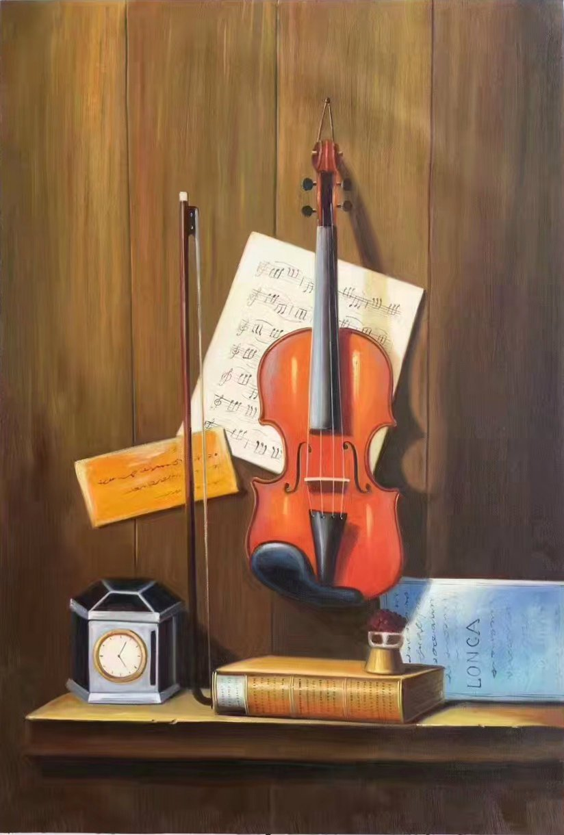 "Simple modern Hand painted oil painting on canvas""violin""60x90CM(23.6""x35.4"")Unframed-08"