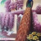 """Simple modern Hand painted oil painting on canvas""""Gorgeous peacock""""60x120CM(23.6""""x47.2"""")Unframed-13"""
