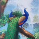 """Simple modern Hand painted oil painting on canvas""""Gorgeous peacock""""60x120CM(23.6""""x47.2"""")Unframed-20"""