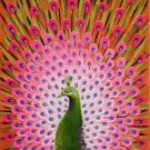 """Simple modern Hand painted oil painting on canvas""""Gorgeous peacock""""60x120CM(23.6""""x47.2"""")Unframed-25"""