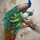 """Simple modern Hand painted oil painting on canvas""""Gorgeous peacock""""90x120CM(35.4""""x47.2"""")Unframed-29"""
