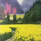 "Hand painted oil painting on canvas""Image of the countryside""60x120CM(23.6""x47.2"")Unframed-40"