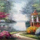 "American style Hand painted oil painting on canvas""Private garden""60x120CM(23.6""x47.2"")Unframed-16"