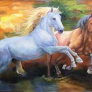 """Simple modern Hand painted oil painting on canvas""""Abstract horse""""80x150CM(31.5""""x59.0"""")Unframed-30"""