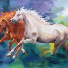 """Simple modern Hand painted oil painting on canvas""""Abstract horse""""80x150CM(31.5""""x59.0"""")Unframed-31"""