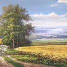 """Hand painted oil painting on canvas""""Image of the countryside""""70x180CM(27.6""""x70.9"""")Unframed-45"""