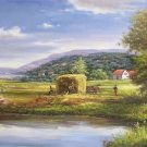 """Hand painted oil painting on canvas""""Image of the countryside""""70x180CM(27.6""""x70.9"""")Unframed-46"""