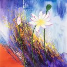 """Chinese style Hand painted oil painting on canvas""""lotus""""50x60CM(19.7""""x23.6"""")Unframed-42"""