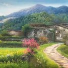 "Hand painted oil painting on canvas""Image of the countryside""70x180CM(27.6""x70.9"")Unframed-48"