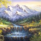 """American style Hand painted oil painting on canvas""""Creek""""70x180CM(27.6""""x70.9"""")Unframed-112"""