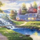 """Hand painted oil painting on canvas""""Image of the countryside""""70x180CM(27.6""""x70.9"""")Unframed-49"""