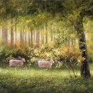 "American style Hand painted oil painting on canvas""Sheep""70x180CM(27.6""x70.9"")Unframed-10"