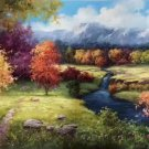 """American style Hand painted oil painting on canvas""""Creek""""70x180CM(27.6""""x70.9"""")Unframed-124"""