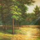 "Nordic style Hand painted oil painting on canvas""forest""60x120CM(23.6""x47.2"")Unframed-35"