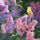 "Simple modern Hand painted oil painting on canvas""Cute bird""58x112CM(22.8""x44.1'')Unframed-18"