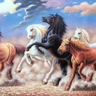 """Simple modern Hand painted oil painting on canvas""""Abstract horse""""70x180CM(27.6""""x70.9"""")Unframed-33"""