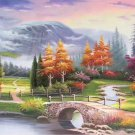 """European style Hand-painted oil painting on canvas""""mind home""""70x180CM(27.6""""x70.9"""")Unframed-32"""