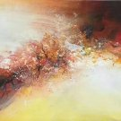 "Simple modern Hand-painted oil painting on canvas""Cirrus""40x150cm(16'' X 60'')Unframe-01"