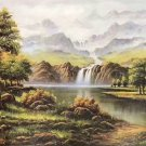 """Hand painted oil painting on canvas""""Creek""""60x120CM(23.6""""x47.2"""")Unframed-145"""