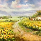 "Hand painted oil painting on canvas""Image of the countryside""60x90CM(23.6""x35.4"")Unframed-53"