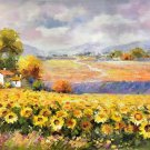 "Hand painted oil painting on canvas""Image of the countryside""60x90CM(23.6""x35.4"")Unframed-54"