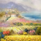 """Hand painted oil painting on canvas""""Image of the countryside""""60x90CM(23.6""""x35.4"""")Unframed-55"""