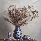 "Chinese style Hand painted oil painting on canvas""ceramics""75x100CM(29.5""x39.4"")Unframed-29"