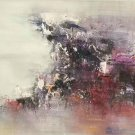 """Simple modern Hand-painted oil painting on canvas""""Cirrus""""40x150cm(16'' X 60'')Unframe-13"""
