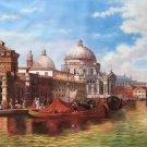 "European style Hand painted oil painting on canvas""Venice""70x180CM(27.6""x70.9"")Unframed-18"