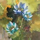 """Chinese style Hand painted oil painting on canvas""""lotus""""60x120CM(23.6""""x47.2"""")Unframed-47"""