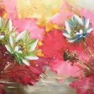 "Chinese style Hand painted oil painting on canvas""lotus""60x120CM(23.6""x47.2"")Unframed-55"