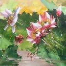 "Chinese style Hand painted oil painting on canvas""lotus""60x120CM(23.6""x47.2"")Unframed-56"