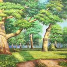 """Nordic style Hand painted oil painting on canvas""""forest""""70x180CM(27.6""""x70.9"""")Unframed-41"""