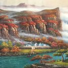 """Hand painted oil painting on canvas""""Image of the countryside""""100x260CM(40""""x102"""")Unframed-58"""