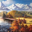 """Hand painted oil painting on canvas""""Image of the countryside""""70x180CM(27.6""""x70.9"""")Unframed-60"""