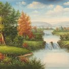 "American style Hand painted oil painting on canvas""Creek""70x180CM(27.6""x70.9"")Unframed-147"