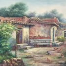 """Hand painted oil painting on canvas""""Image of the countryside""""70x180CM(27.6""""x70.9"""")Unframed-63"""