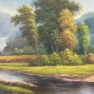 "American style Hand painted oil painting on canvas""Creek""70x180CM(27.6""x70.9"")Unframed-153"